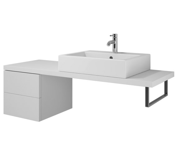 Duravit L Cube 420 x 547mm 2 Drawers Cabinet For Console - LC 6875