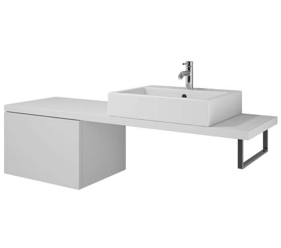 Duravit L Cube 620 x 477mm Cabinet For Console - LC685101818