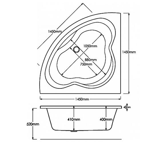 Technical drawing QS-V0021 / 1450x1450