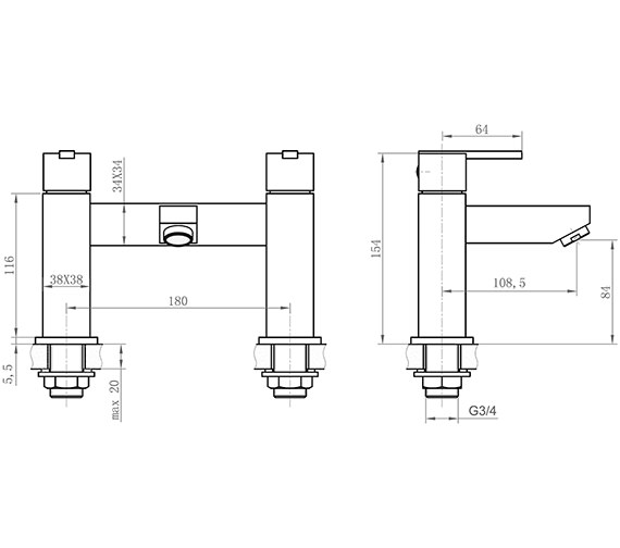 Technical drawing QS-V31023 / ISL005