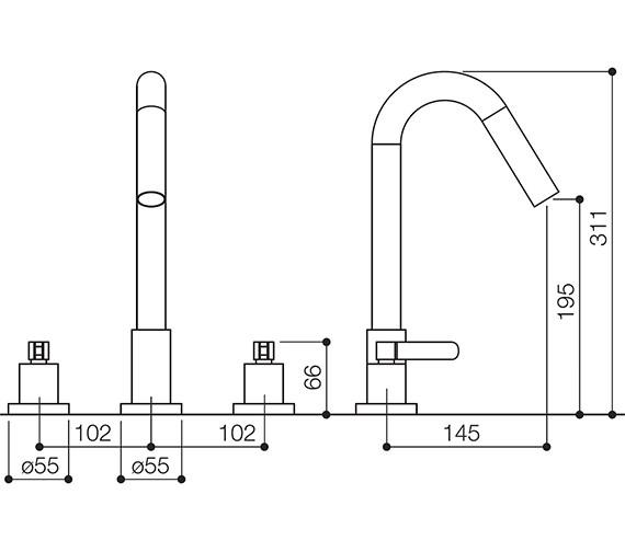 Technical drawing QS-V30865 / STC015