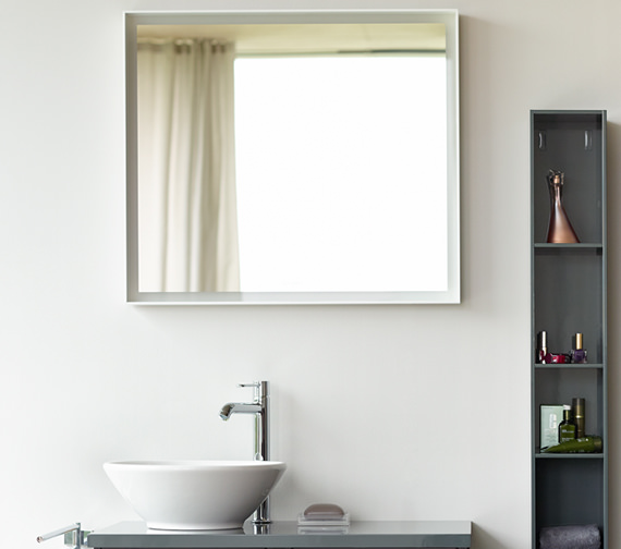 Duravit L Cube 650mm Mirror With LED Lighting - LC738000000