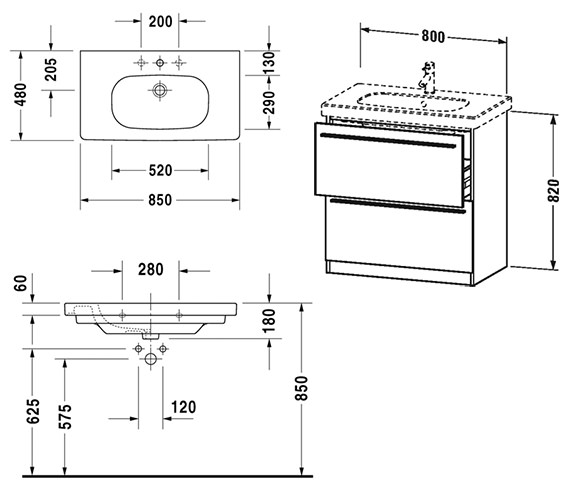 Technical drawing QS-V59001 / XL605601818