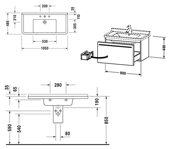 Technical drawing QS-V52841 / XL605701818
