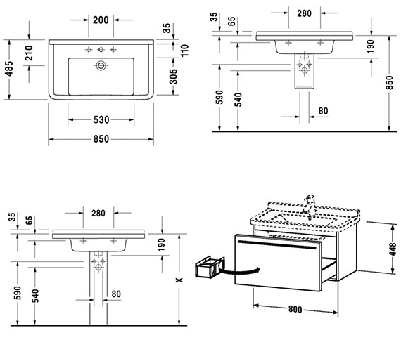 Technical drawing QS-V59002 / XL605701818
