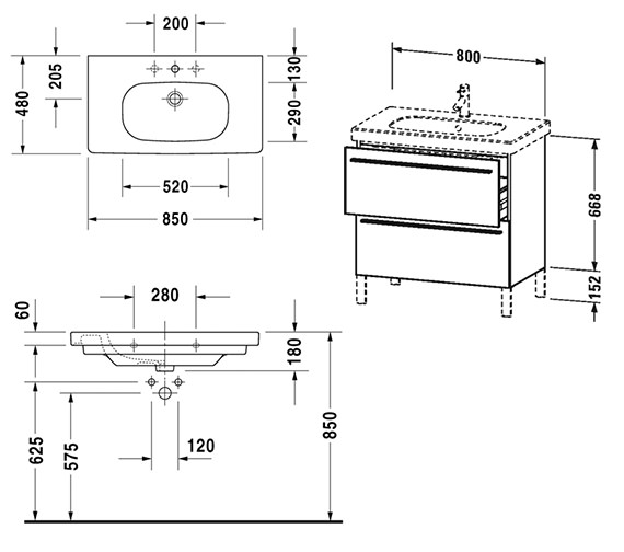 Technical drawing QS-V4413 / XL651601818