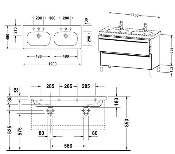 Technical drawing QS-V4415 / XL651801818