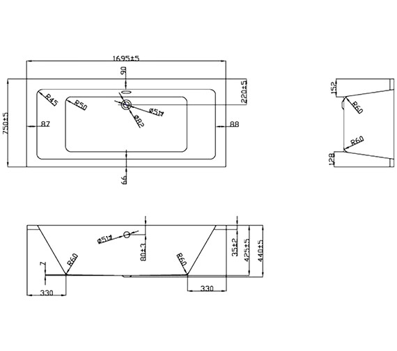 Technical drawing QS-V37701 / BH044C