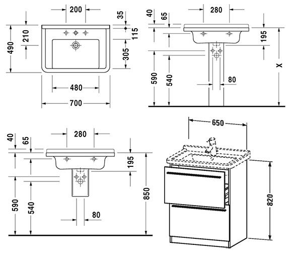 Technical drawing QS-V4423 / XL659001818