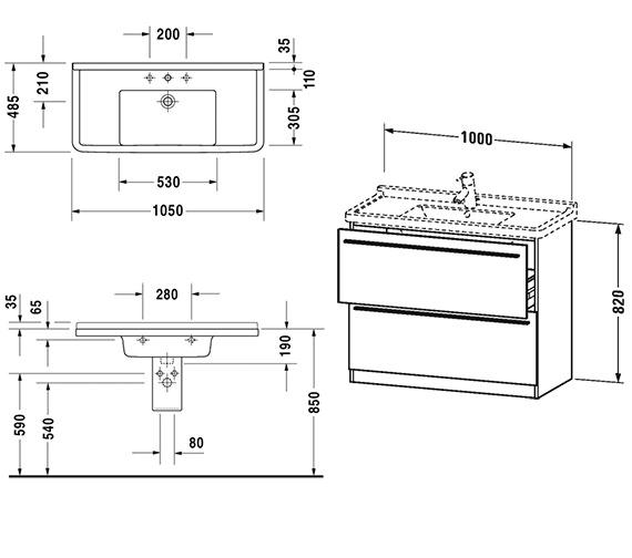 Technical drawing QS-V4425 / XL659201818