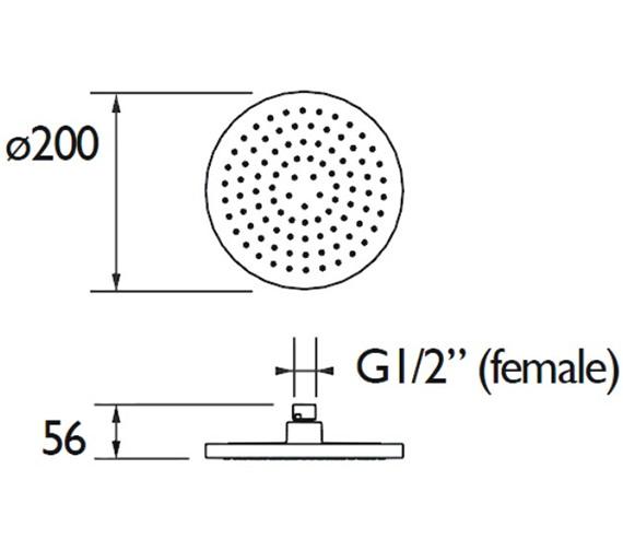 Technical drawing QS-V79179 / FHC ABRD01 C