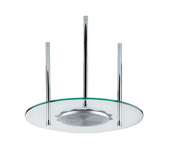 Abode Euphoria Circular Glass Roof Mounted Showerhead - AB2406
