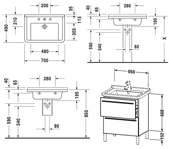 Technical drawing QS-V4419 / XL653501818