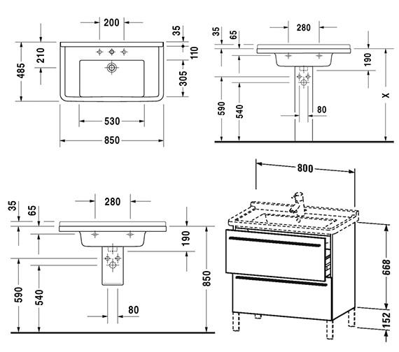 Technical drawing QS-V4420 / XL653601818
