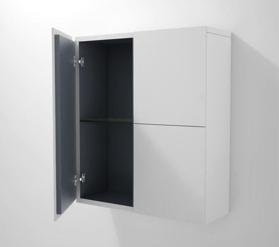 Duravit L Cube 700 x 243mm 2 Doors Semi Tall Cabinet - LC116701818