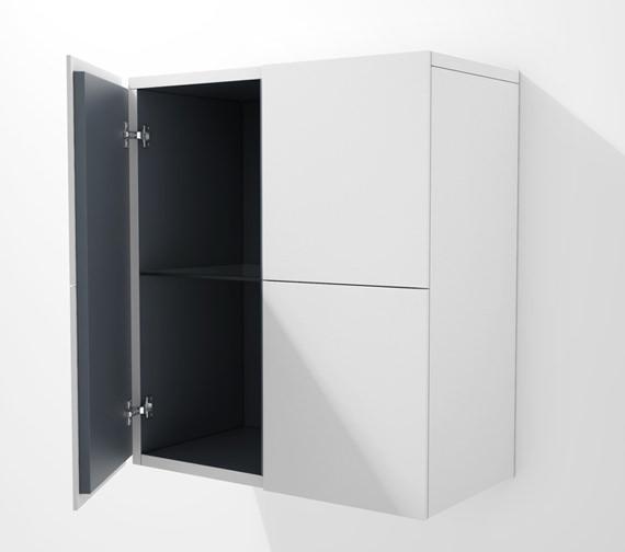 Duravit L Cube 700 x 363mm 2 Doors Semi Tall Cabinet - LC117701818