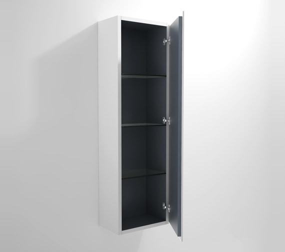 Duravit L Cube 400x243mm Semi Tall Cabinet Right Hinges - LC1168R1818