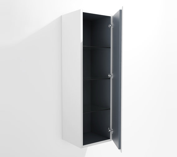 Duravit L Cube 400x363mm Semi Tall Cabinet Right Hinges
