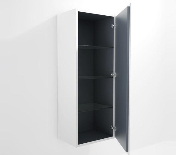 Duravit L Cube 500x363mm Semi Tall Cabinet Right Hinges - LC1179R1818