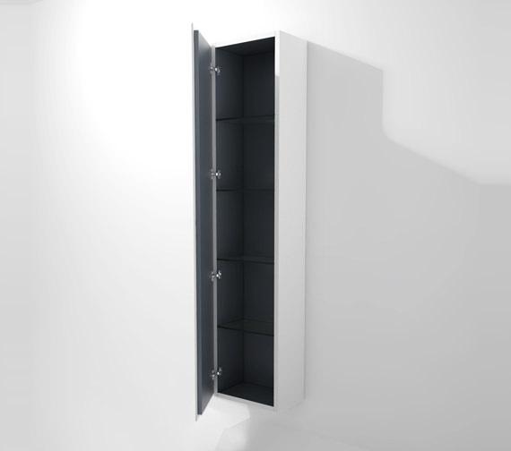 Duravit L Cube 400x243mm Tall Cabinet Left Hinges - LC1170L1818