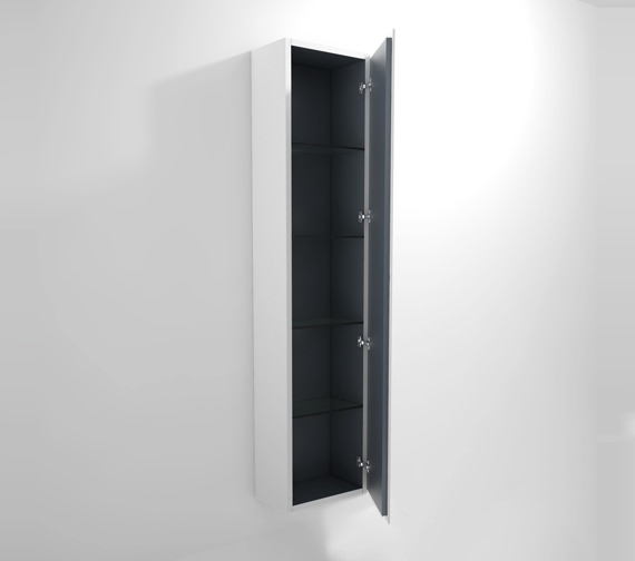 Duravit L Cube 400x243mm Tall Cabinet Right Hinges - LC1170R1818