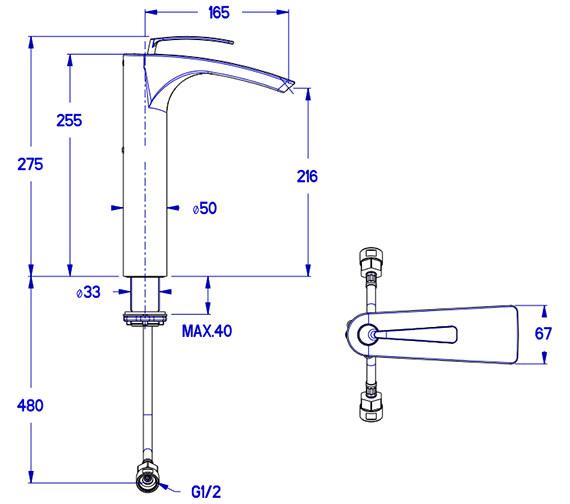Technical drawing QS-V38002 / ES112DNC