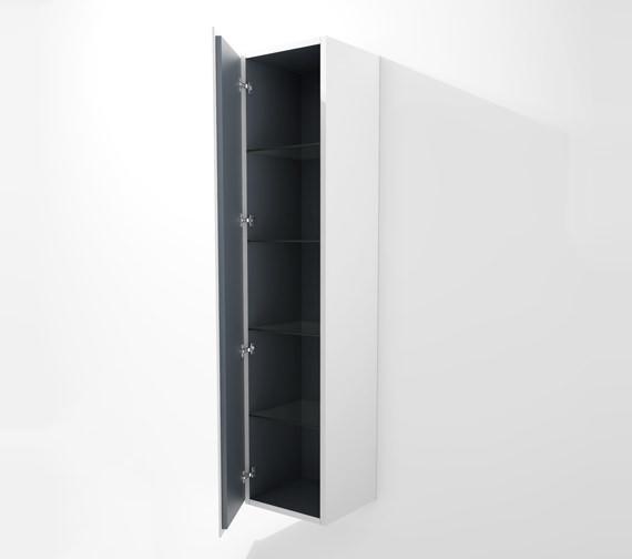 Duravit L Cube 400x363mm Tall Cabinet Left Hinges - LC1180L1818