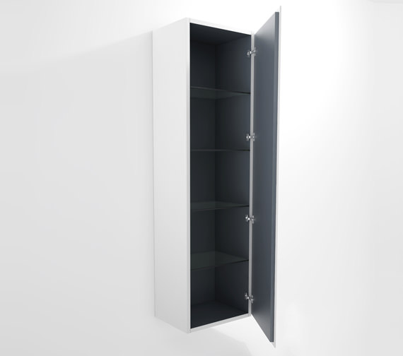 Duravit L Cube 500x363mm Tall Cabinet Right Hinges - LC1181R1818