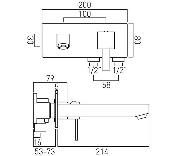 Technical drawing QS-V37071 / TE-109S/A-C/P