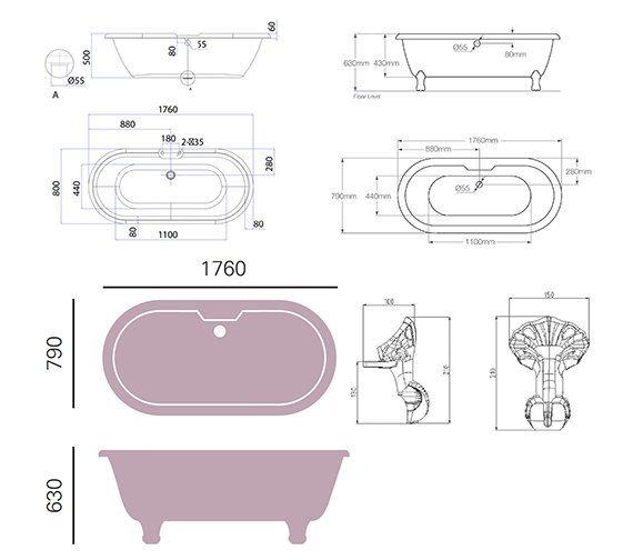 Technical drawing QS-V76032 / BOBW01