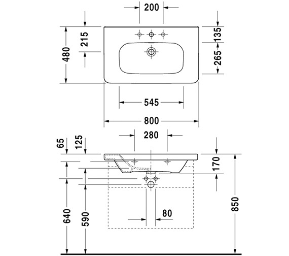 Technical drawing QS-V24943 / DS608101818