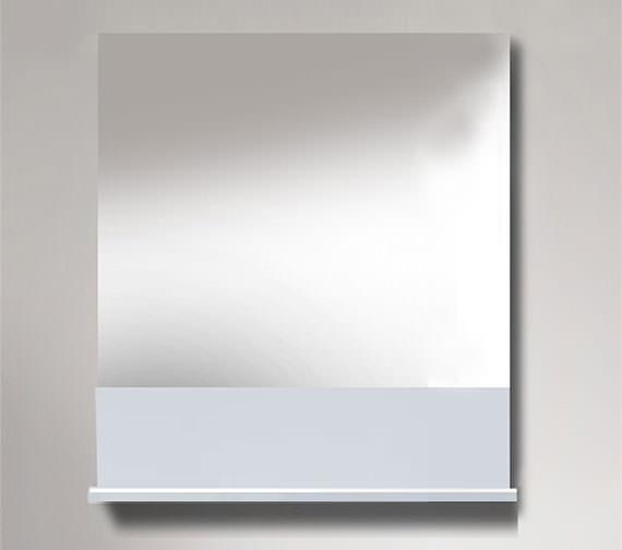 Duravit Vero 400 x 800mm Mirror With White High Gloss Below Shelf