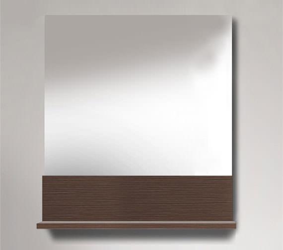 Duravit Vero 400 x 800mm Mirror With Brushed Oak Below Shelf