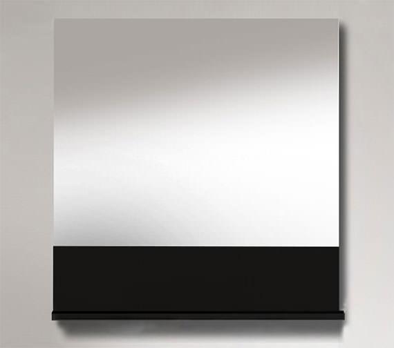 Duravit Vero 400 x 800mm Mirror With Black High Gloss Below Shelf