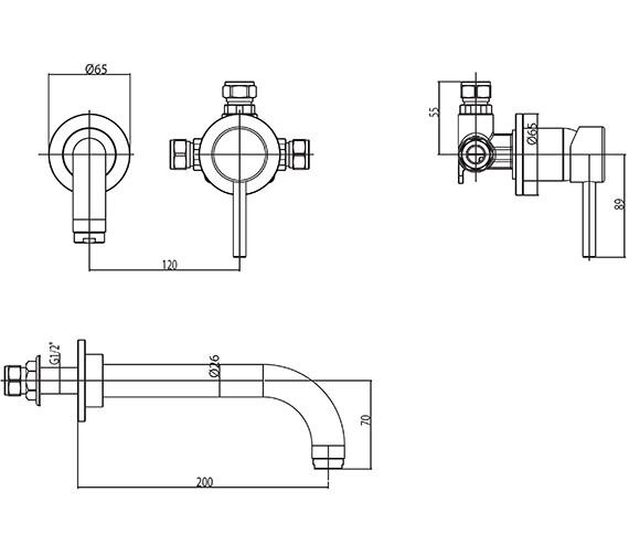 Technical drawing QS-V30390 / EL/325/C