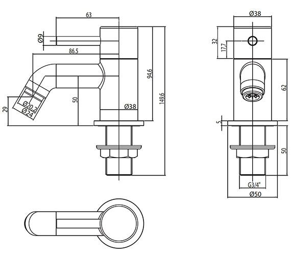 Technical drawing QS-V30397 / EL/102/C