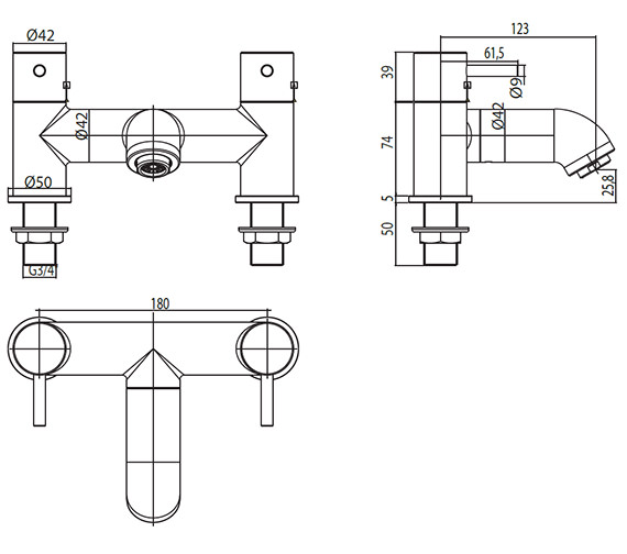 Technical drawing QS-V30405 / EL/304/C