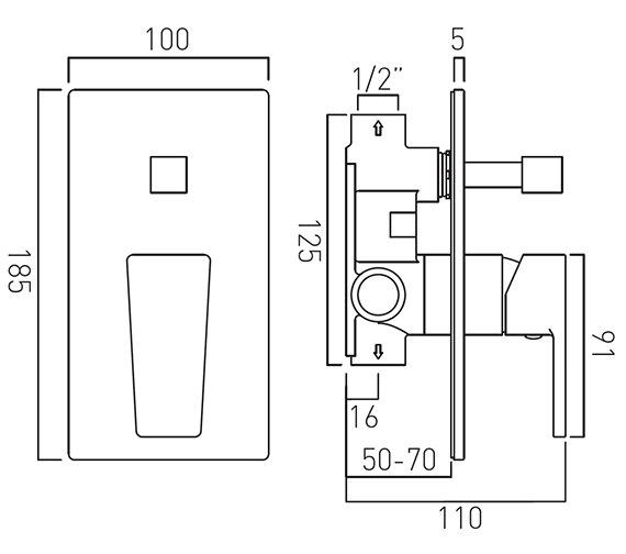 Technical drawing QS-V37038 / SYN-147A-C/P
