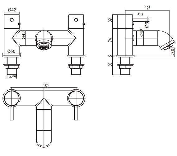 Technical drawing QS-V30399 / EL/305/C
