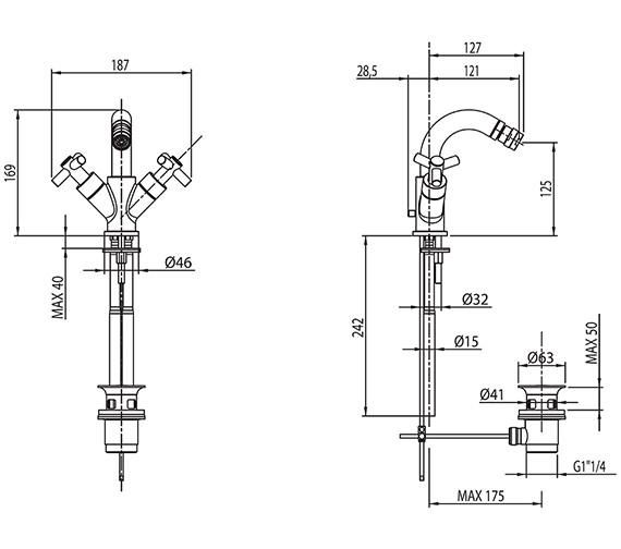 Technical drawing QS-V30535 / ZO/108/C