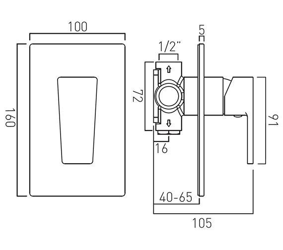 Technical drawing QS-V37037 / SYN-145A-C/P