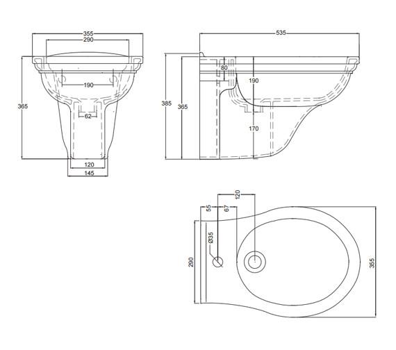 Technical drawing QS-V17689 / CR1BH11030