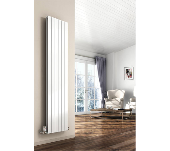 Reina Flat Vertical Single Panel Radiator 292 x 1800mm - RND-FL184W