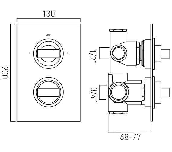 Technical drawing QS-V37065 / NOT-148C/2-C/P