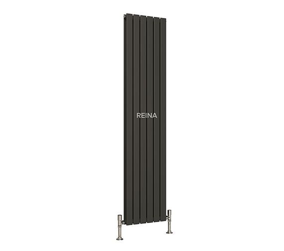 Reina Anthracite Flat Vertical Single Panel Radiator 440x1800mm