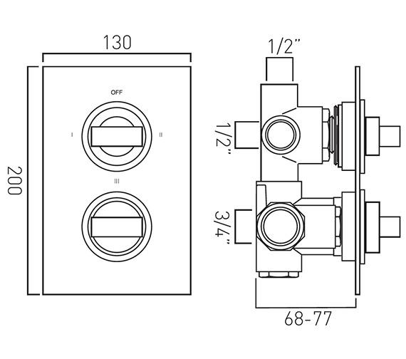 Technical drawing QS-V37066 / NOT-148C/3-C/P