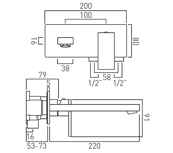 Technical drawing QS-V58609 / NOT-109S/A-220-C/P