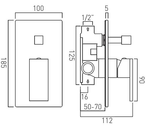 Technical drawing QS-V37062 / NOT-147A-C/P
