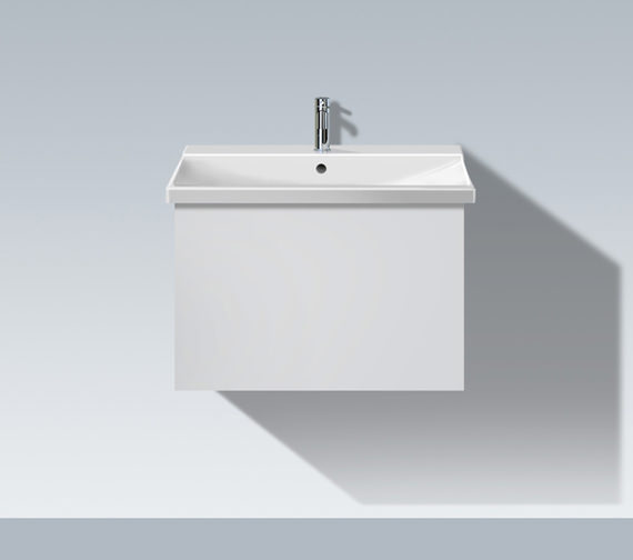 Duravit L Cube 620mm 1 Compartment Unit With P3 Comforts Basin