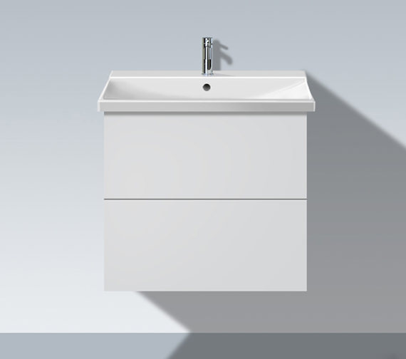 Duravit L Cube 620mm 2 Drawers Vanity Unit With P3 Comfort Basin